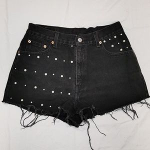 Levi's | Vintage Studded High Rise Cutoff Shorts